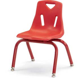 "Jonti-Craft® Berries® Plastic Chair with Powder Coated Legs - 10"" Ht - Red"