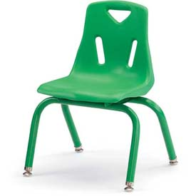 "Jonti-Craft® Berries® Plastic Chair with Powder Coated Legs - 10"" Ht - Set of 6 - Green"