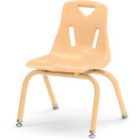 """Jonti-Craft® Berries® Plastic Chair with Powder Coated Legs - 12"""" Ht - Set of 6 - Camel"""
