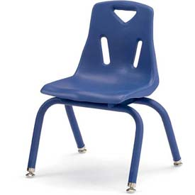 "Jonti-Craft® Berries® Plastic Chair with Powder Coated Legs - 14"" Ht - Blue"