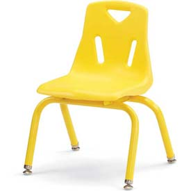 "Jonti-Craft® Berries® Plastic Chair with Powder Coated Legs - 14"" Ht - Yellow"