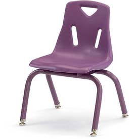 "Jonti-Craft® Berries® Plastic Chair with Powder Coated Legs - 16"" Ht - Purple"
