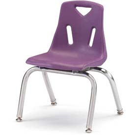 "Jonti-Craft® Berries® Plastic Chair with Chrome-Plated Legs - 12"" Ht - Set of 6 - Purple"