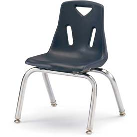"""Jonti-Craft® Berries® Plastic Chair with Chrome-Plated Legs - 12"""" Ht - Set of 6 - Navy"""