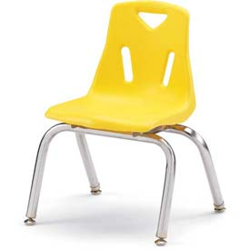 "Jonti-Craft® Berries® Plastic Chair with Chrome-Plated Legs - 14"" Ht - Yellow"