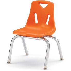 "Jonti-Craft® Berries® Plastic Chair with Chrome-Plated Legs - 18"" Ht - Orange"