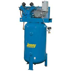 Jenny® Vertical Stationary Compressor W5B-80V-230V, 1PH, 5HP, 175 PSI, 80 Gal