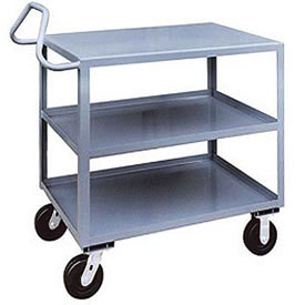 Jamco 3 Shelf Ergonomic Service Cart EF248 2400 Lb. Capacity 24 x 48