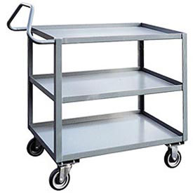 Jamco 3 Shelf Ergonomic Service Cart ET360 1200 Lb. Capacity 30 x 60
