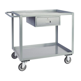 Jamco Service Cart with Drawer LK272 1200 Lb. Capacity 24 x 72