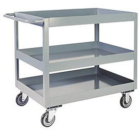 "Jamco 3"" Lip 3 Shelf Service Cart LN248 1200 Lb. Capacity 24 x 48 by"