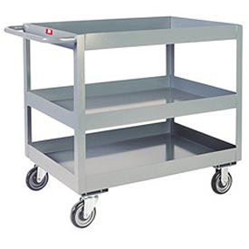 "Jamco 3"" Lip 3 Shelf Service Cart NR230 2400 Lb. Capacity 24 x 36 by"