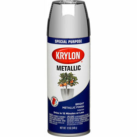 Krylon Metallic Paint Chrome Aluminum - K01404 - Pkg Qty 6