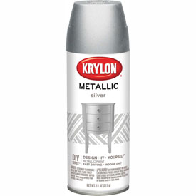 Krylon Metallic Paint Silver Metallic - K01406 - Pkg Qty 6