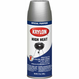 Krylon High Heat Paint Bbq & Stove Aluminum - K01407000 - Pkg Qty 6