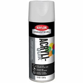 Krylon (5-Ball) Interior-Exterior Paint Semi-Gloss White - K01508A07 - Pkg Qty 6