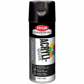 Krylon (5-Ball) Interior-Exterior Paint Gloss Black - K01601 - Pkg Qty 6