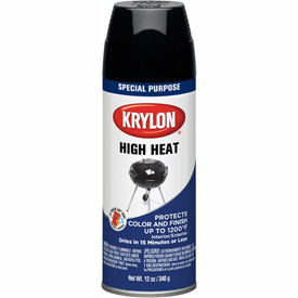 Krylon High Heat Paint Black - K01618000 - Pkg Qty 6