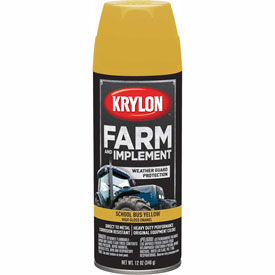 Krylon Farm And Implement Paint School Bus Yellow - K01957000 - Pkg Qty 6