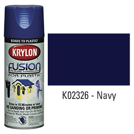 Krylon Fusion For Plastic Paint Gloss Navy - K02326001 - Pkg Qty 6