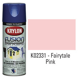 Krylon Fusion For Plastic Paint Gloss Fairytale Pink - K02331001 - Pkg Qty 6