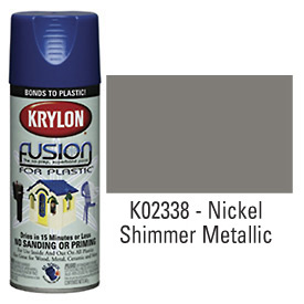 Krylon Fusion For Plastic Paint Metallic Shimmer Nickel Shimmer - K02338 - Pkg Qty 6