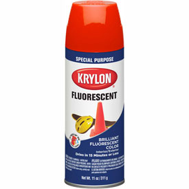 Krylon Fluorescent Indoor/Outdoor Paint Red Orange - K03101 - Pkg Qty 6