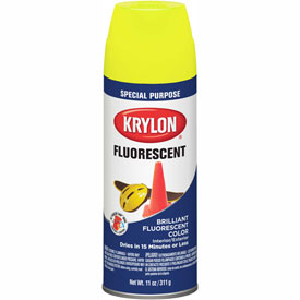 Krylon Fluorescent Indoor/Outdoor Paint Lemon Yellow - K03104007 - Pkg Qty 6
