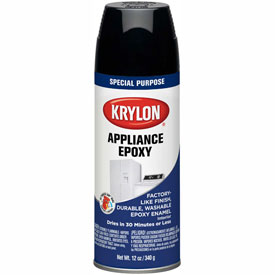 Krylon Appliance Epoxy Paint Black - K03206007 - Pkg Qty 6