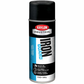 Krylon Industrial Iron Guard Latex Spray Paint Max Flat Black - K07911 - Pkg Qty 12