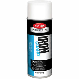 Krylon Industrial Iron Guard Latex Spray Paint Satin White - K07912000 - Pkg Qty 12