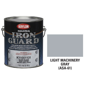 Krylon Industrial Iron Guard Acrylic Enamel Lt Machinery Gray (Asa-61) - K11003271 - Pkg Qty 4