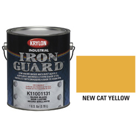 Krylon Industrial Iron Guard Acrylic Enamel New Cat Yellow - K11004711 - Pkg Qty 4