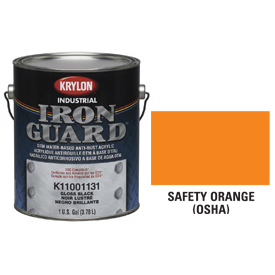 Krylon Industrial Iron Guard Acrylic Enamel Safety Orange (Osha) - K11004991 - Pkg Qty 4