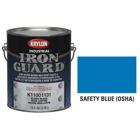 Krylon Industrial Iron Guard Acrylic Enamel Safety Blue (Osha) - K11018001 - Pkg Qty 4