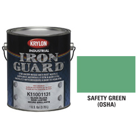 Krylon Industrial Iron Guard Acrylic Enamel Safety Green (Osha) - K11044001 - Pkg Qty 4