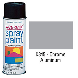 Krylon Industrial Weekend Economy Paint Chrome Aluminum - K345 - Pkg Qty 6