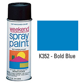 Krylon Industrial Weekend Economy Paint Bold Blue - K352 - Pkg Qty 6