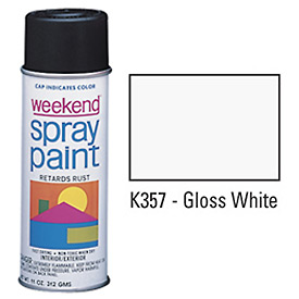 Krylon Industrial Weekend Economy Paint Gloss White - K357 - Pkg Qty 6