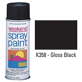 Krylon Industrial Weekend Economy Paint Gloss Black - K358 - Pkg Qty 6