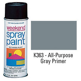 Krylon Industrial Weekend Economy Paint Gray Primer - K363 - Pkg Qty 6