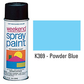 Krylon Industrial Weekend Economy Paint Powder Blue - K369 - Pkg Qty 6