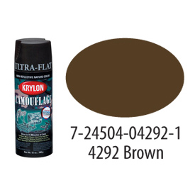 Krylon Camouflage With Fusion For Plastic Paint Brown - K04292007 - Pkg Qty 6