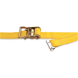 """Kinedyne Ratchet Logistic Strap 641601 with Spring Loaded Fitting 16' x 2"""" Gray by"""