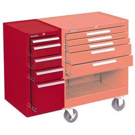 "Kennedy® 185R 18"" 5-Drawer Hang-On Cabinet - Red"