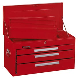 "Kennedy® 263R 26"" 3-Drawer Mechanics Chest w/ Tray - Red"