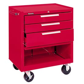 "Kennedy® 273XR 27"" 3-Drawer Roller Cabinet w/ Ball Bearing Slides - Red"