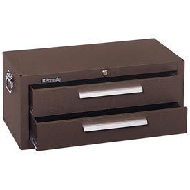 "Kennedy® 2902B 29"" 2-Drawer Add-On Base w/ Friction Slides - Brown"