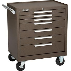 "Kennedy® 297XB 29"" 7-Drawer Roller Cabinet w/ Ball Bearing Slides - Brown"