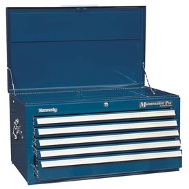 "Kennedy® 3400MPBL 34"" 5-Drawer Maintenance Chest - Blue"